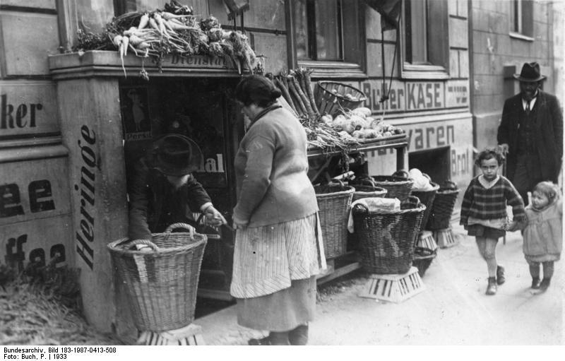 Jews in the Scheunenviertel, Berlin's Jewish quarter, 1933