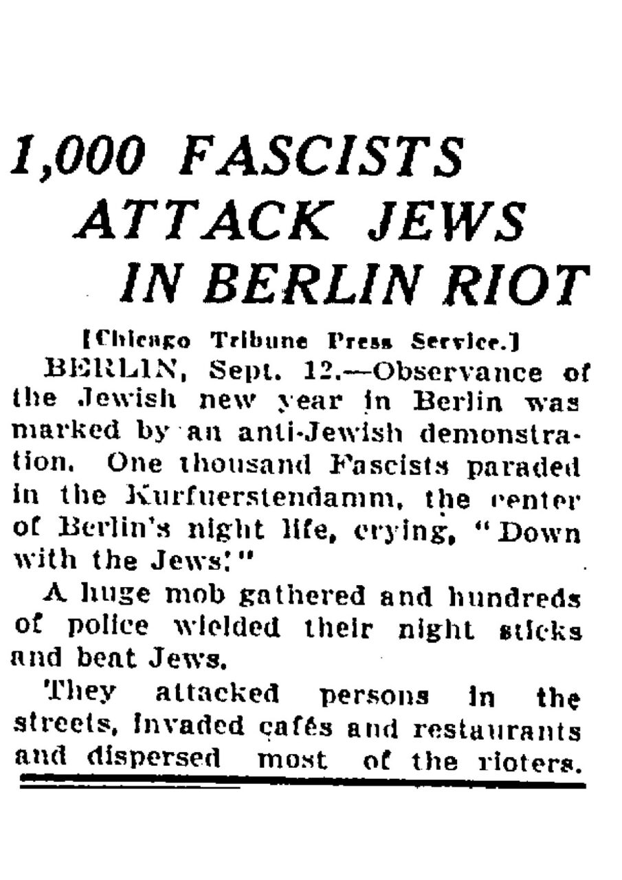 Chicago Daily Tribune 1931