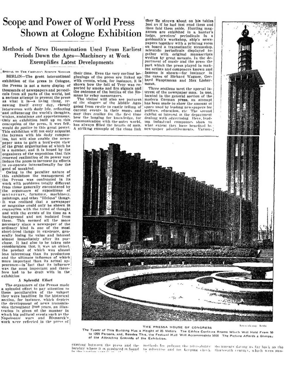 Christian Science Monitor 1928