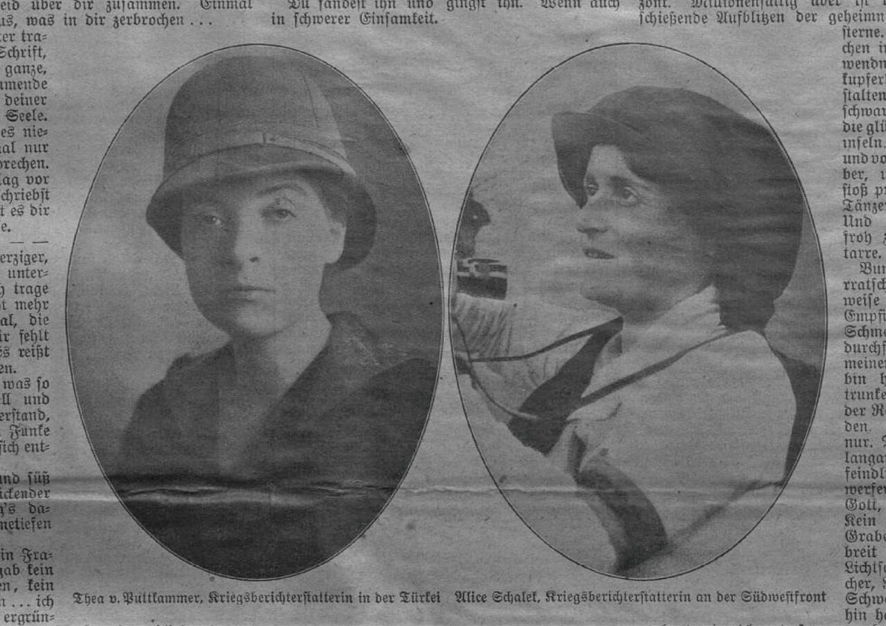 Alice Schalek and Thea von Puttkamer