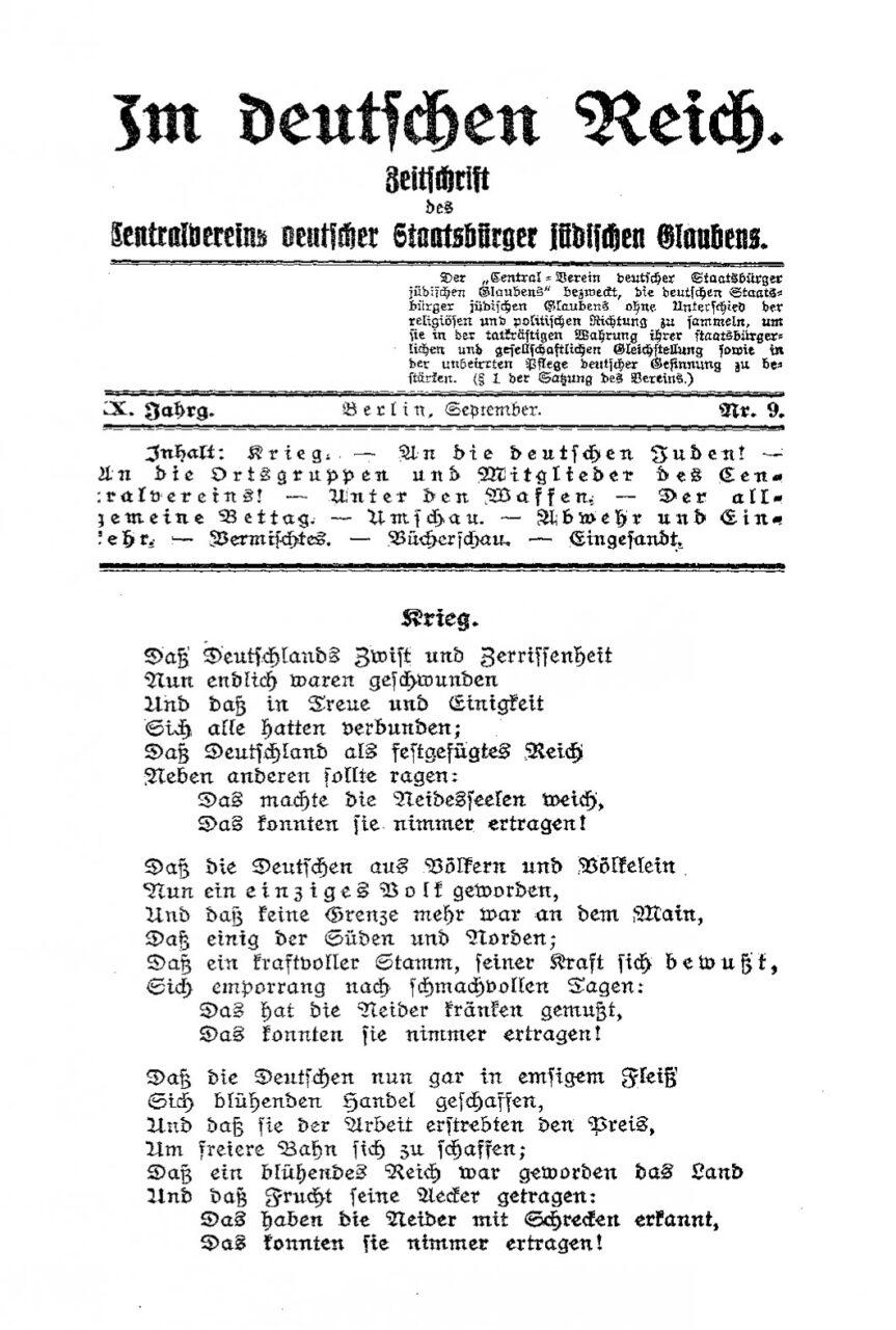 Im deutschen Reich