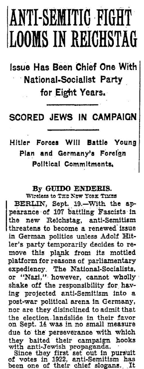 New York Times 1930