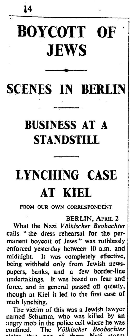 The Times 1933
